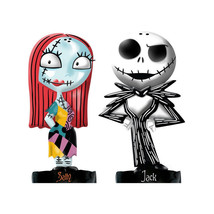 Nightmare Before Christmas Jack & Sally Figures Ceramic Salt and Pepper ... - $24.18