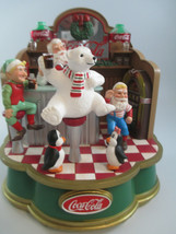 Coca-Cola Musical Collection Santa's Soda Fountain Holiday Christmas Dis... - $24.75