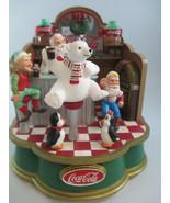 Coca-Cola Musical Collection Santa's Soda Fountain Holiday Christmas Dis... - $24.75