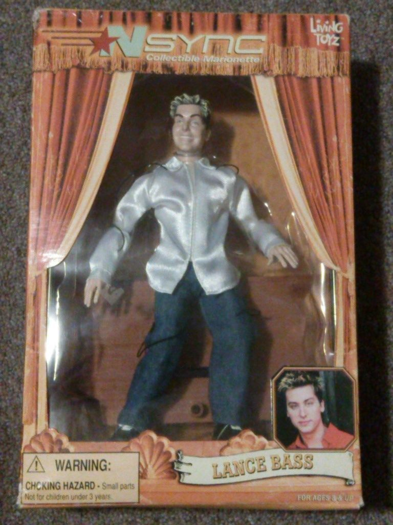 Primary image for 2000 Living Toyz NSync Marionette Lance Bass Doll! New!