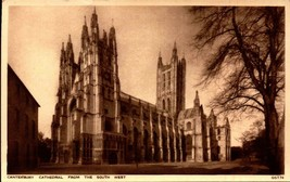 VINTAGE ENGLISH POSTCARD- CANTERBURY CATHEDRAL FROM THE SOUTH WEST,  UK ... - $3.68