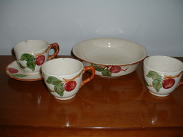 Franciscan APPLE bowl, cups, saucer. - $8.99
