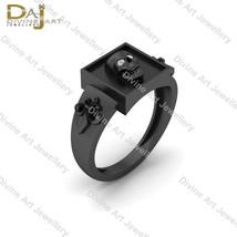 Fleur De Lis Gothic Skull Wedding Ring Moissanite Skull Ring 925 Sterlin... - £120.91 GBP