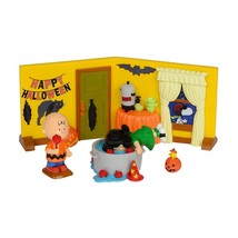 Dept 56 PEANUTS 2014 PEANUTS HALLOWEEN PARTY 4 Piece Set Halloween - £23.21 GBP