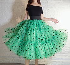 Royal Blue Polka Dot Tutu Skirt A-line Layered Puffy Midi Organza Tutu Skirt  image 11