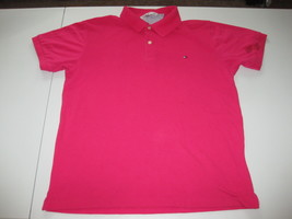Tommy Hilfiger Pink Mens Polo Large L Bright Berry - $15.83