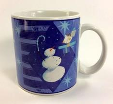 SNOWMAN Presents Coffee Mug SAKURA Christmas Winter Twinkle Zulauf Designs - $14.80