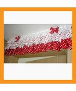 red dot ruffled valance curtain window treatment kitchen waverly drape lace - $39.00