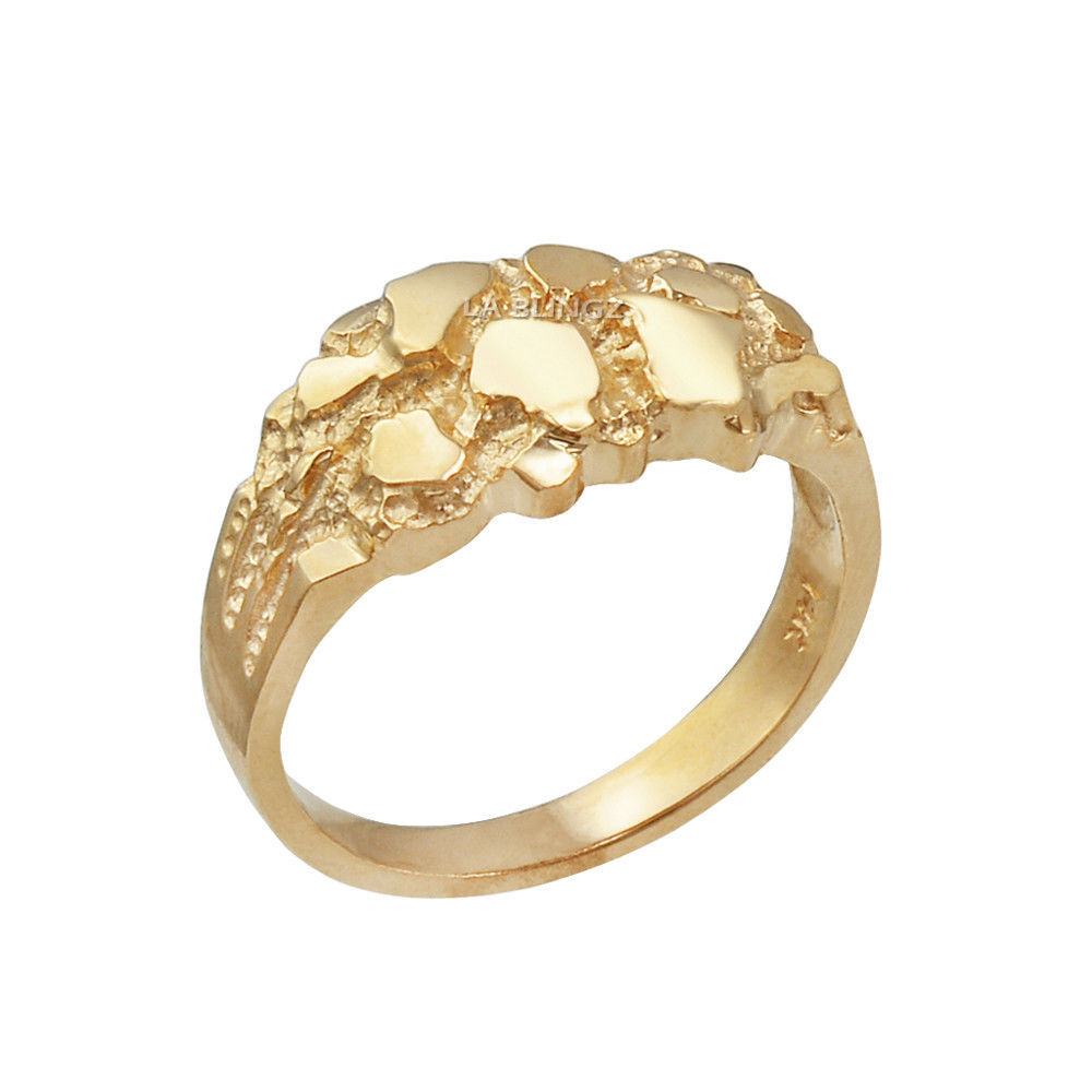 10K Yellow Gold Elegant Nugget Ring