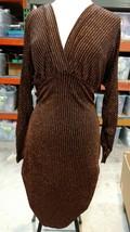 FOREVER 21 PLUS KNIT STRIPED BLACK/BRONZE DRESS Size 0X - $14.24