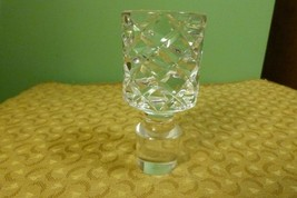 "Vintage Crystal Decanter Stopper - Very Heavy - Diamond Pattern 4 1/2"" T... - $21.73"