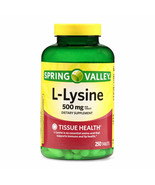 Spring Valley L-Lysine Tablets, 500mg, 250 Count - $19.36