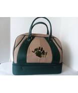 Green Khaki Safari Golf Player Travel Tote Canvas Faux Leather 17 × 10 ×... - $29.69
