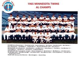 1965 Minnesota Twins 8X10 Team Photo Baseball Picture Mlb Al Champs - $3.95