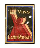 """Antique Vintage Poster """"VINS CAMP ROMAIN ROUGE ROSE BLANC"""" by  L. Gadou... - $1,849.99"""