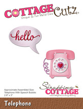 Telephone / Hello Cottage Cutz Die. Card Making. Scrapbooking