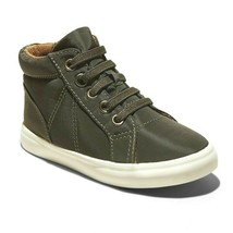 Cat & Jack Niños Verde Oliva Ford Altas Zip-On Zapatillas Nwt