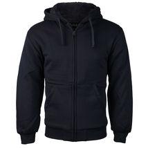 Men's Premium Athletic Soft Sherpa Lined Fleece Zip Up Hoodie Sweater Jacket image 8