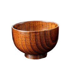 An item in the Pottery & Glass category: Natural Wooden Bowl Janpanese Bowl Healthy Baby Rice/Soup/Pasta Bowl(4.52.6'')