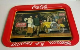 Vintage Coca Cola Coke Brand Tray 1980s 80s 1987 Touring Car Soda Collec... - $34.29