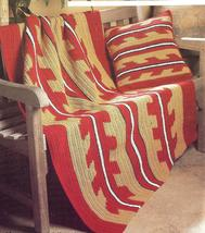 Southwest Afghan & Pillow Crochet Pattern - $4.99