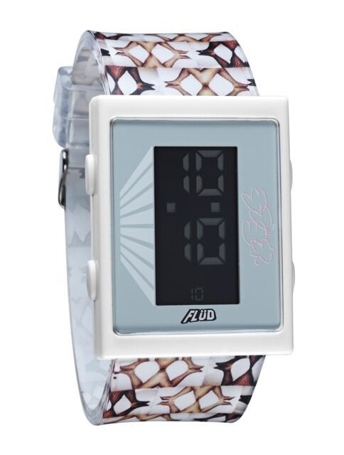 Yonehara Yasumasa X Flud White Digital LCD Cartridge Watch Women's Legs NIB