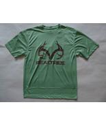 Realtree Performance Logo SS T-Shirt Size Large Green Mesh Crew Neck RP $28 - $8.33