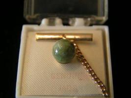 Vintage 8mm Genuine Jade Bead Tie Tack - $5.99