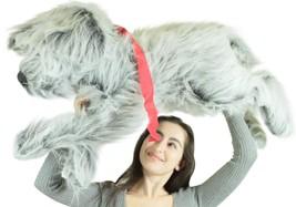 American Made Giant Stuffed Dog 42 Inch Soft Plush Gray Labrador Retriever - $97.11