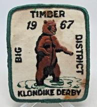 Big Timber District Klondike Derby 1967 Bear Patch Vintage - $5.92