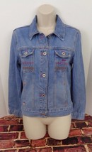 GUESS JEANS Womens Blue Button Down 100% Cotton Jean Jacket Size Medium ... - $28.05
