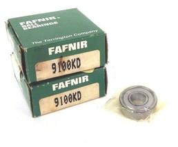 LOT OF 2 NIB FAFNIR 9100KD DEEP GROOVE BALL BEARINGS