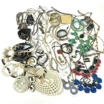 Costume Jewelry Lot Boho Mod Metal Vtg To Modern Rhinestone Gaudy 3+ lbs  - $34.65