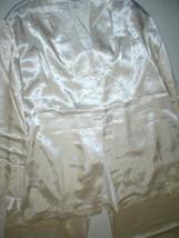 NWT New Designer Natori Pajamas White Womens PJ S Top Set Small Pants Satin - $126.75