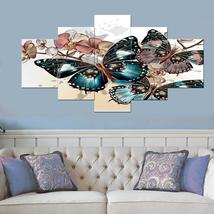 5 Piece Butterfly Canvas Wall Art Modern Painting Pictures Print for Liv... - $24.90+