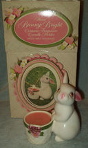 avon bunny bright 1980 candle apple spice candle new in orig box unused ... - $7.00