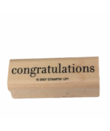 Stampin Up Stamp Word Congratulations Small Card Making Craft Special Occasions - $4.00