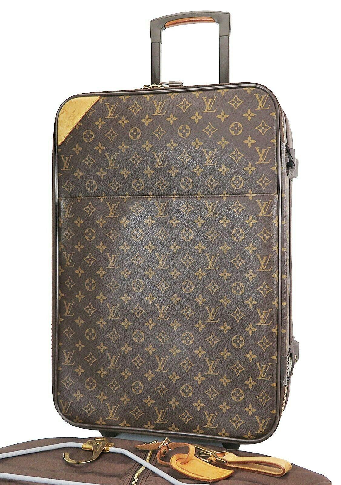 Authentic LOUIS VUITTON Pegase 55 Monogram Canvas Travel Rolling Suitcase #37648 - $1,235.00