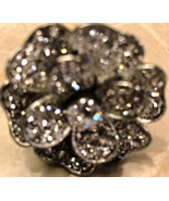 Crystal Big Rose Sterling Silver Ring Jewelry - $15.00
