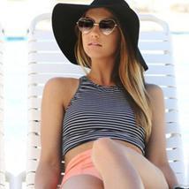 Women Striped High Waist Bikini Set Padded Tank Beach Swimsuit Swimwear Swimming image 5