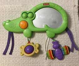 Fisher Price Luv U Zoo 2 in 1 Tummy Timer - Musical Crib Toy with Mirror... - $11.88