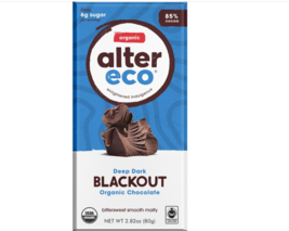 Keto Candy: Alter Eco Dark Chocolate low carb Blackout 2 bars(7 net carbs) - $20.05