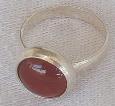Red agate silver ring-C  - $17.00