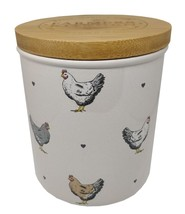 Chickens Hearts Ceramic Wood Cream Storage Canister 23CM X 10CM - $26.16