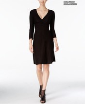 New Nine West Women Surplice Fit & Flare Sweater Dress Ivory Size XS - $41.08