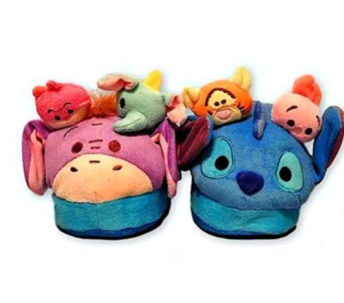Disney Tsum Tsum Stompeez Slippers for Kids, S/M, Pops as you Walk, 12.5-3 Kids