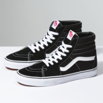 Vans SK8-Hi Black/Black/White Skateboard Shoes - £50.03 GBP