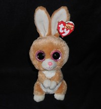 "6"" TY BEANIE BOOS CARROTS TAN WHITE BUNNY RABBIT STUFFED ANIMAL PLUSH TO... - $26.18"