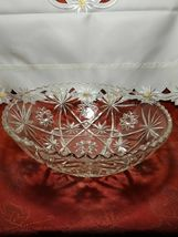 """EARLY AMERICAN PRECUT EAPG STAR OF DAVID GLASS SERVING BOWL 10 3/4"""" image 6"""
