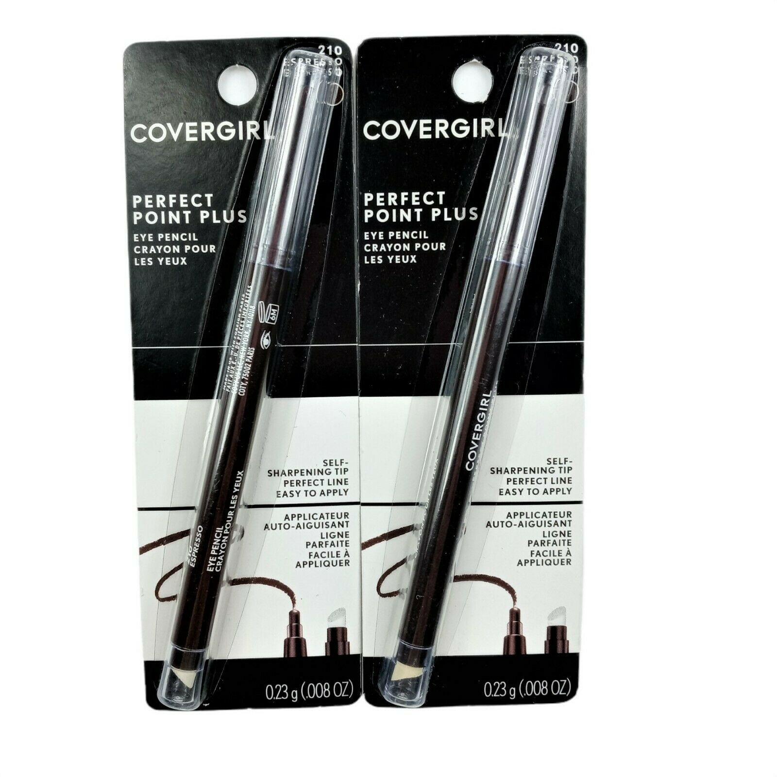 2 Pk COVERGIRL Perfect Point PLUS Eyeliner Pencil Espresso 210 - $12.89